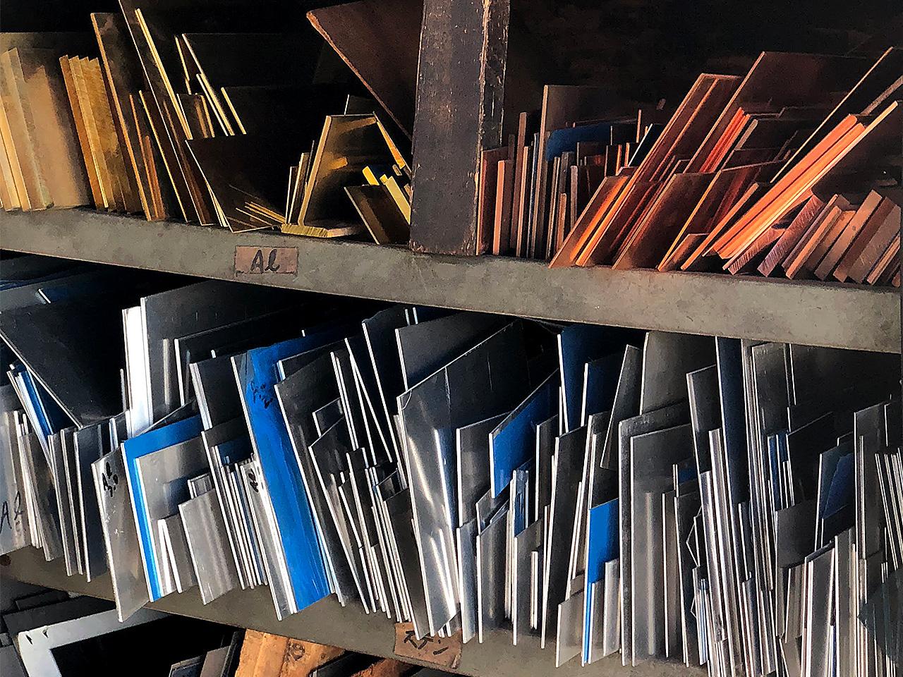角井銅商店 金属板の在庫