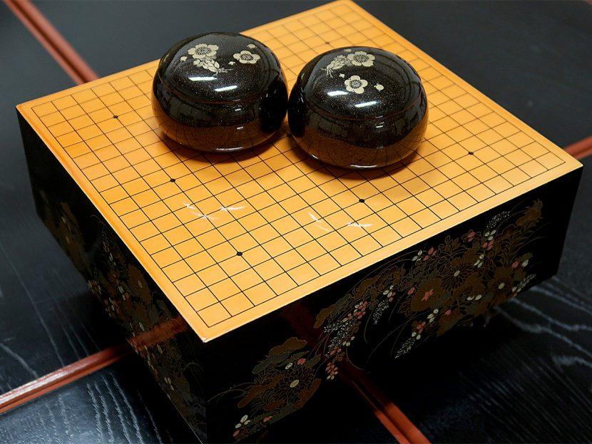 寂光寺「橘の間」に置かれた碁盤
