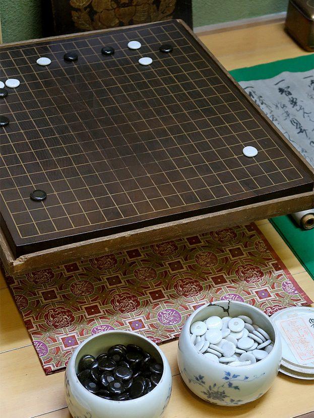 寂光寺 算砂上人愛用の碁盤・碁笥・碁石