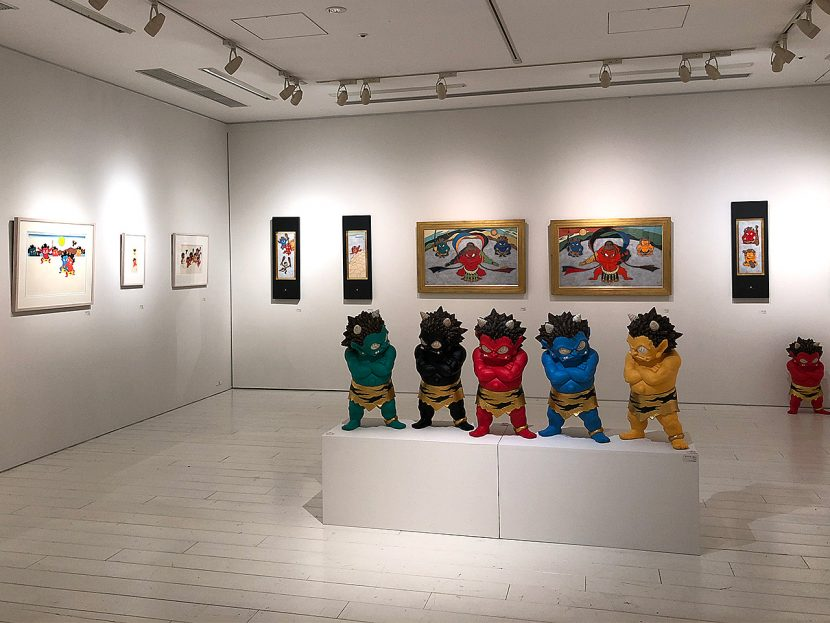 2018年夏に六本木ヒルズで開催された瀧下さんの展覧会の模様