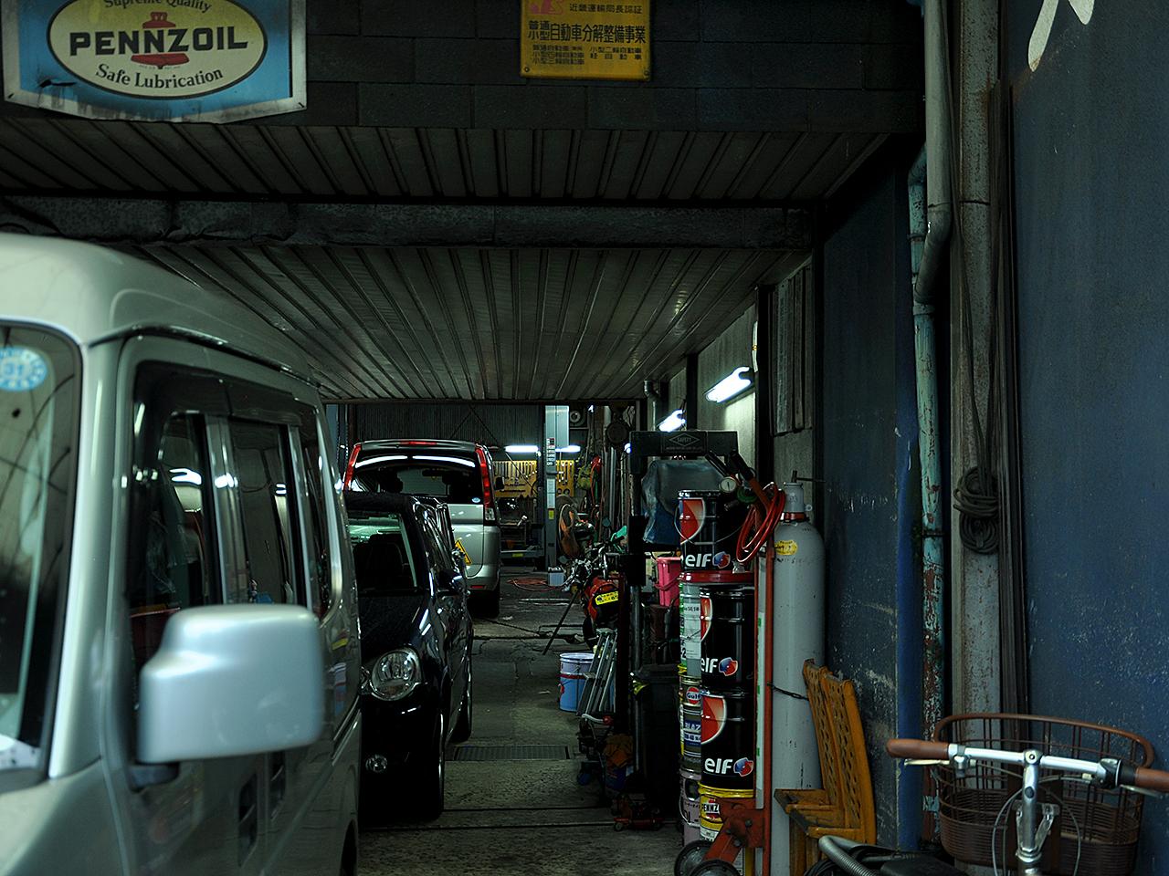 松村モータース 工場内観