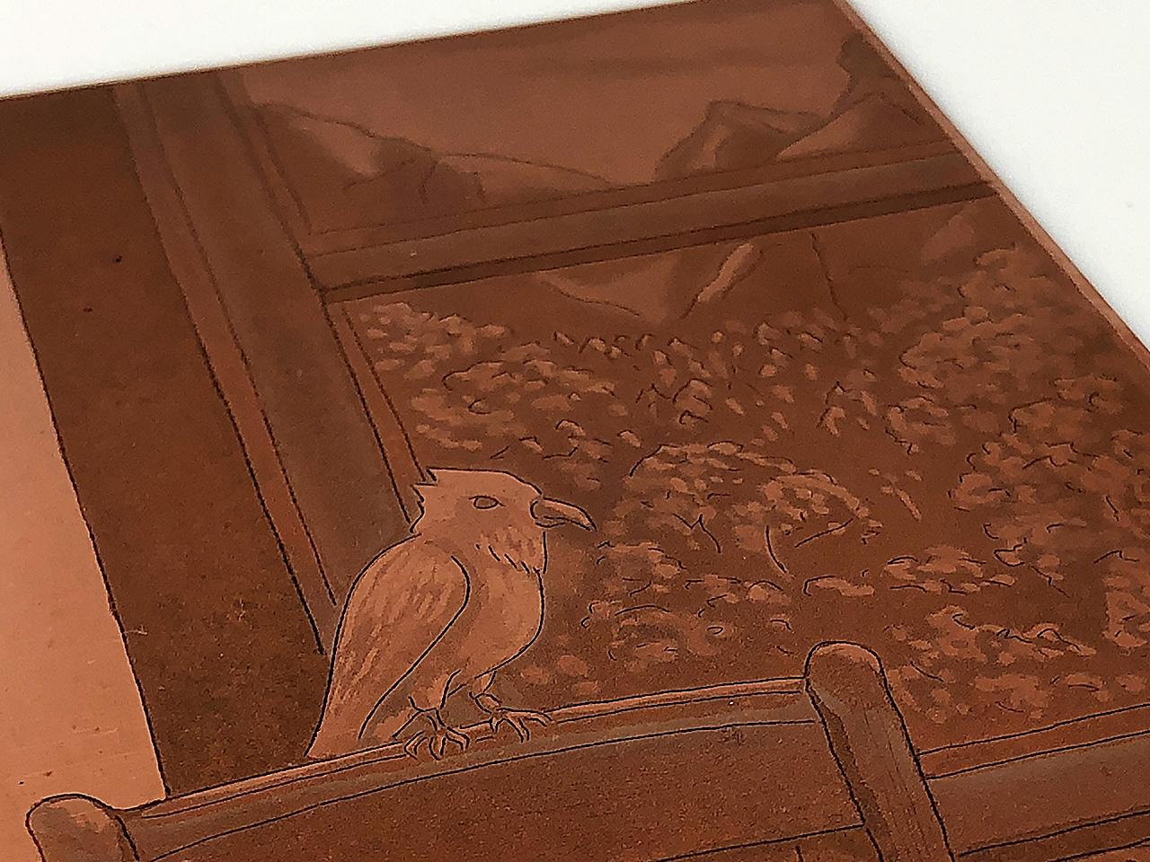 造形作家ヤマゲンイワオの銅版アップ
