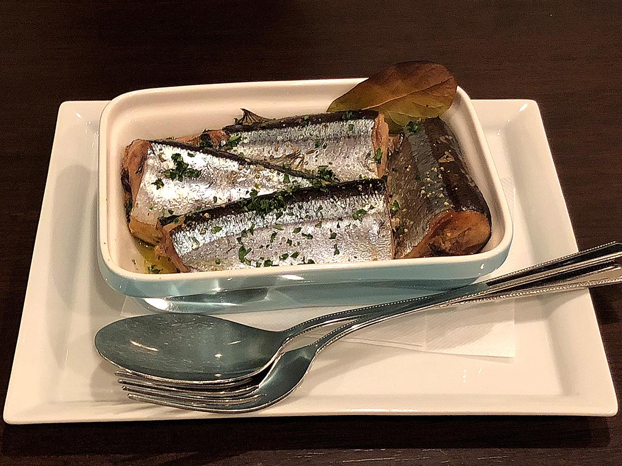 l'est 秋刀魚のコンフィ