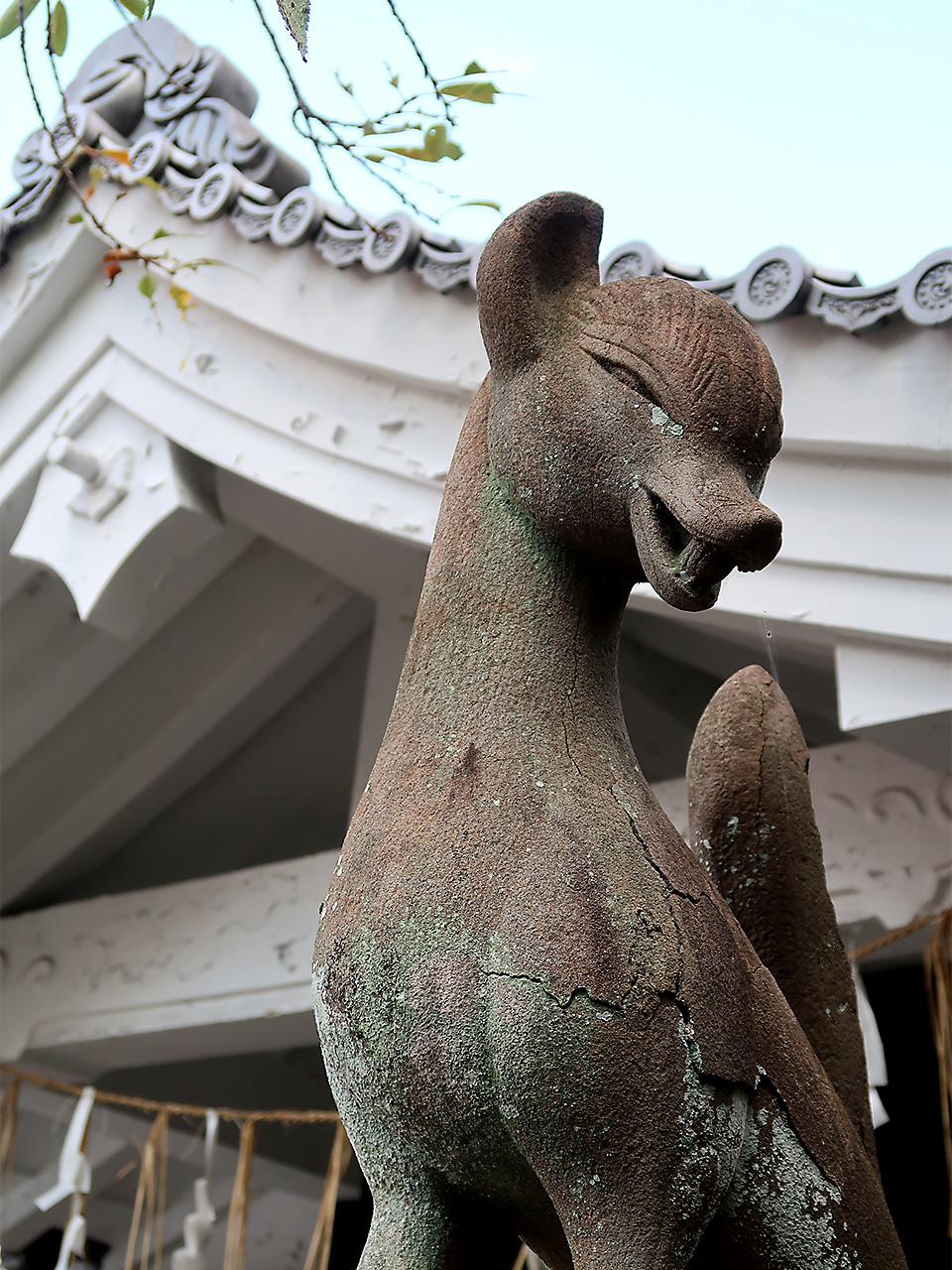 満足稲荷神社 舞殿・狛狐