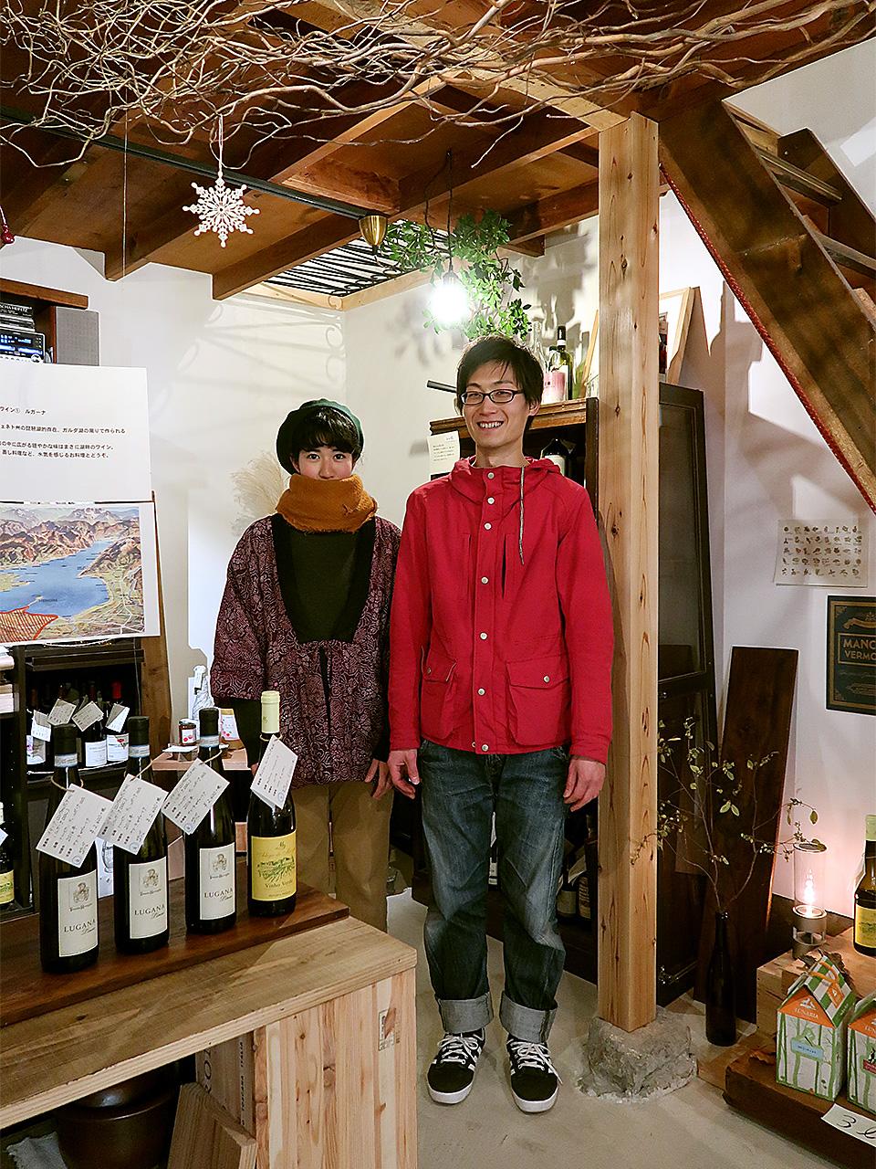 仔鹿オーナーの室原卓弥さん沙采さん夫妻