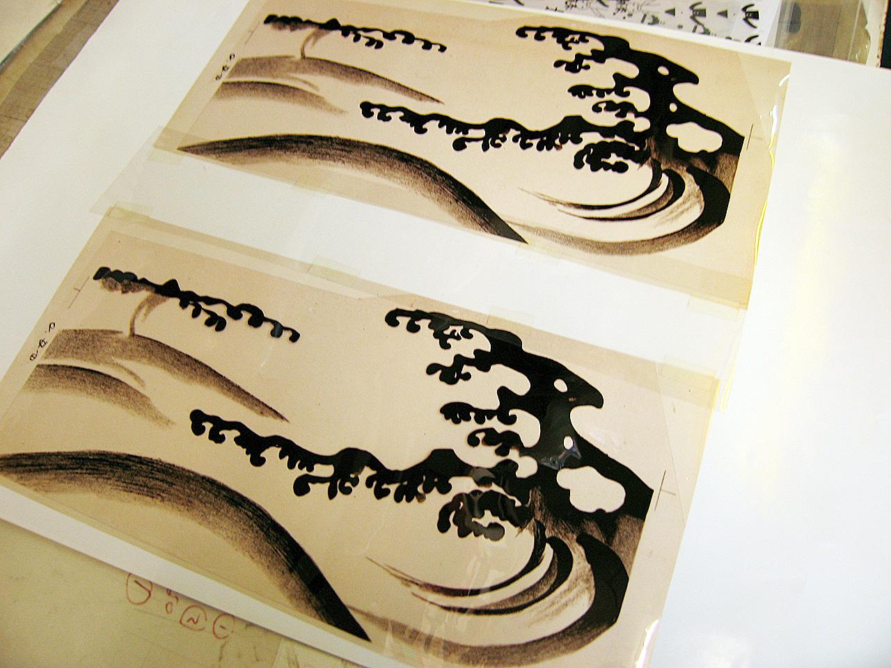 スクリーン印刷 手描き分版