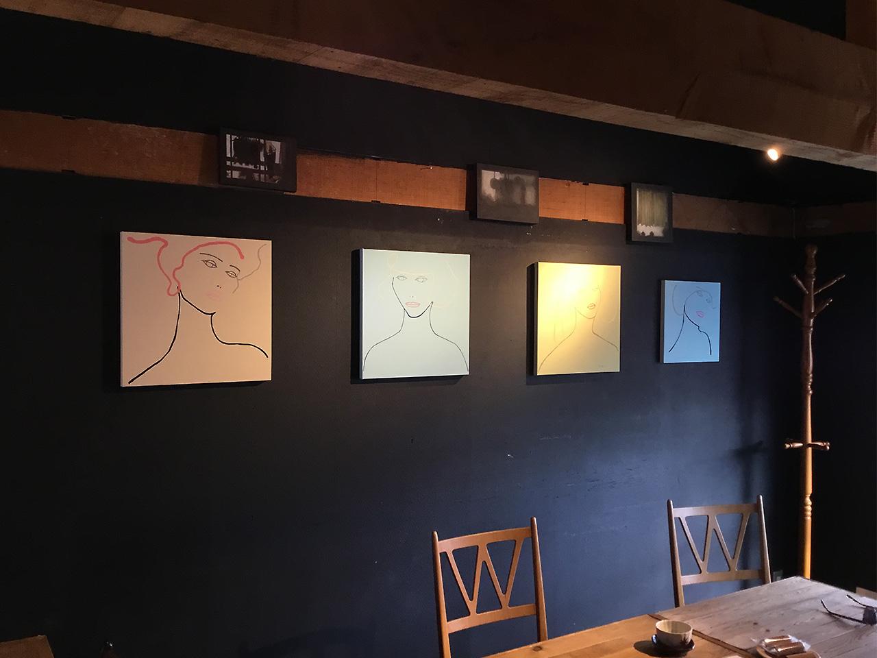 芦屋画廊kyoto 2F Book&cafe スペース