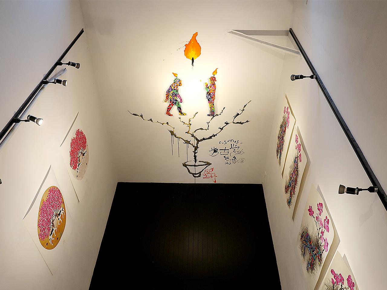 芦屋画廊kyoto 2Fから見下ろす