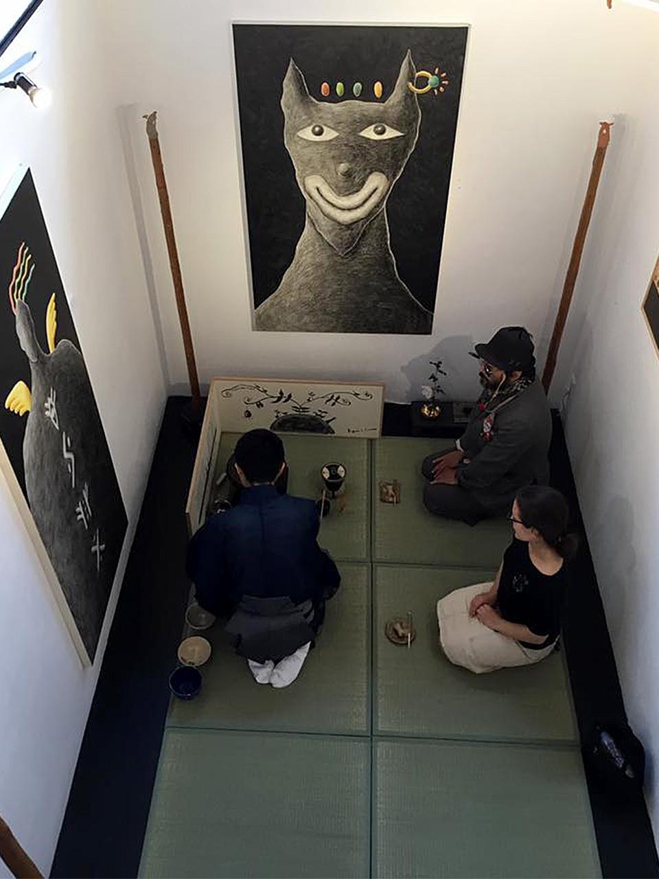 芦屋画廊kyoto お茶会の様子
